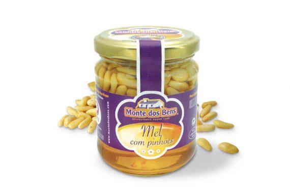 Schopflavendel-Honig mit Pinienkernen