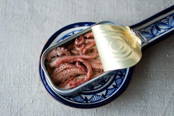 Oktopus in Olivenöl
